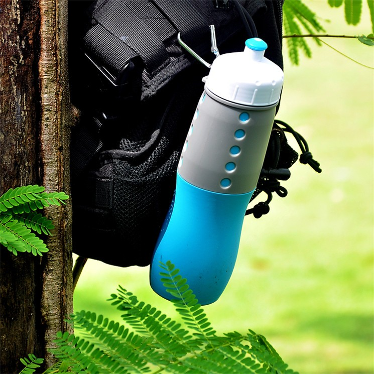 Botteldjoy Silicone Foldable Water Bottle for Travel BPA free 650ML free sample XYT-YDS001