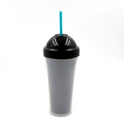 Xinyuetang reusable plastic cup with straw wholesale 480ml BPA free XYT-JLS16519