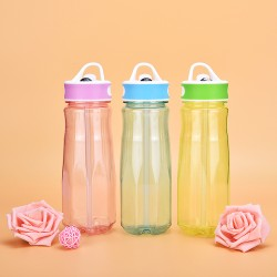 Xinyuetang reusable bpa free water bottles 700ml with handle and flip lid XYT-NP05