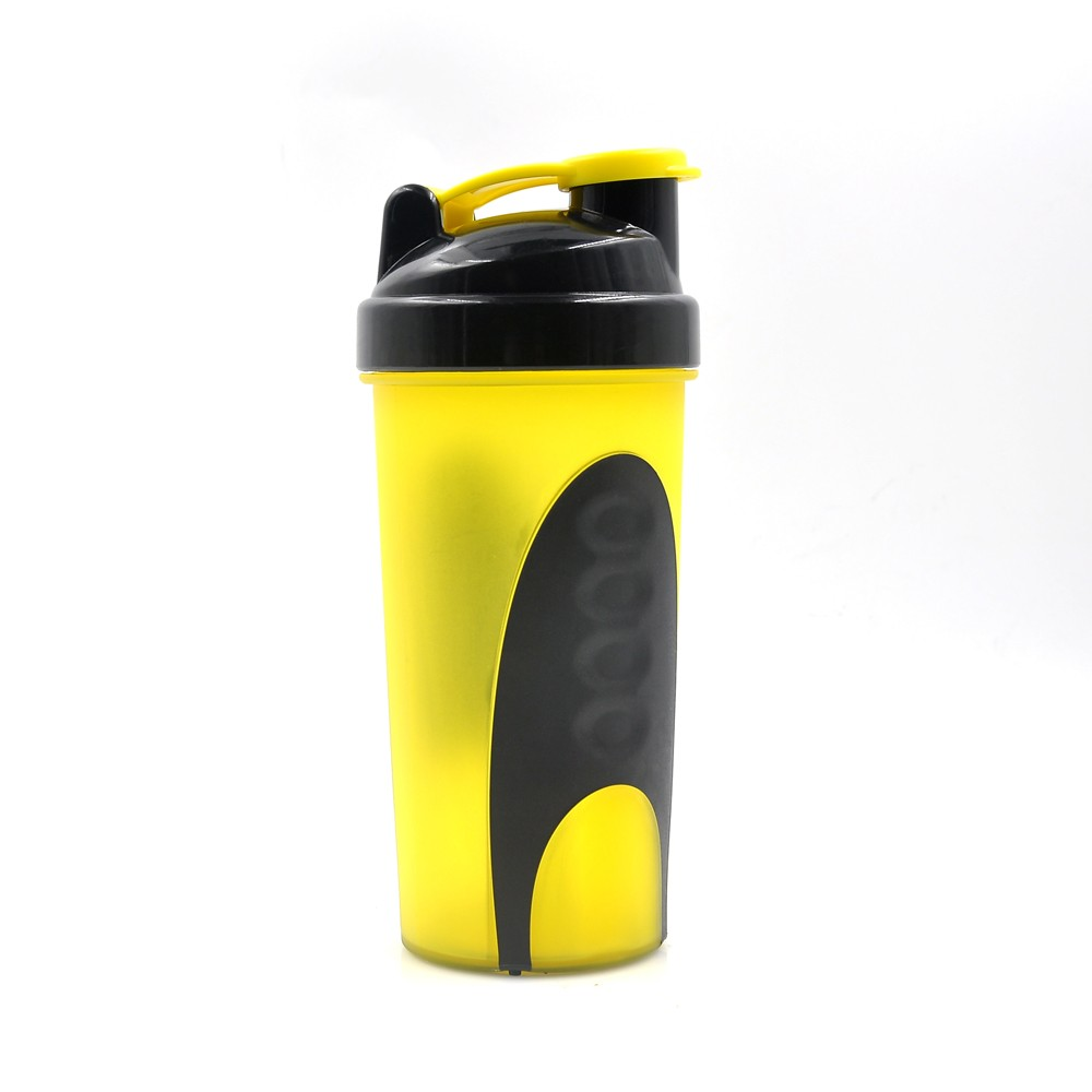 Shaker Mixer Bottle from Shaker Bottle Manufacturer 600ML Yellow  suited for best protein powders