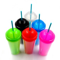Xinyuetang wholesale tumbler cups with straws plastic 480ml XYT-JLS16519
